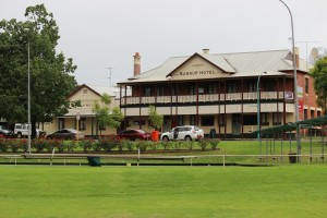 The bowling green is in the centre of town directly across from the 113 year old Nannup Hotel. Both are beautiful locations in their own right, but together it makes for an interesting scene...